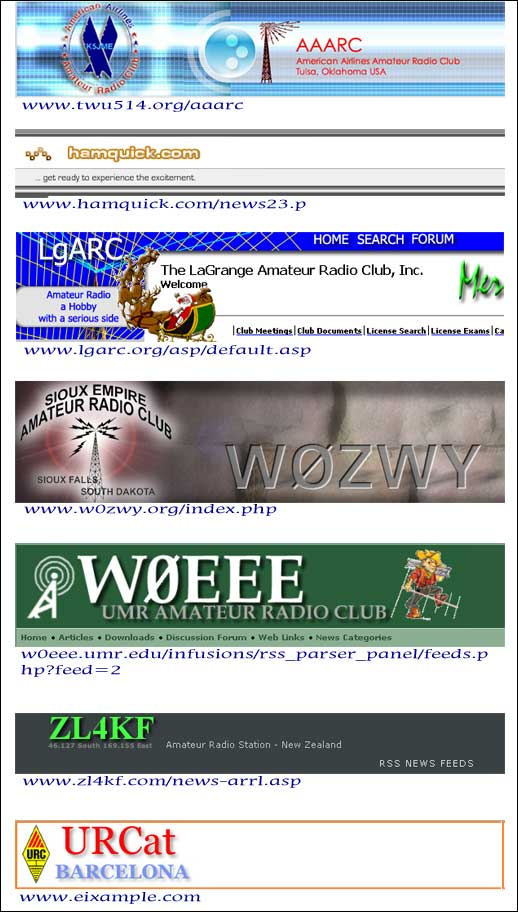 Websites around the world linked to news about Frank Clement, W6KPC, and Sir Angus Tait, ZL3NL, receiving awards from RCA in 2006.