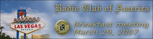 RCA's breakfast meetings began with the late Fred M. Link, a former Club president, as the recurring guest speaker.