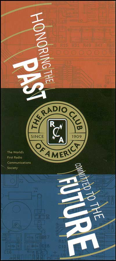 RCA membership leaflet cover