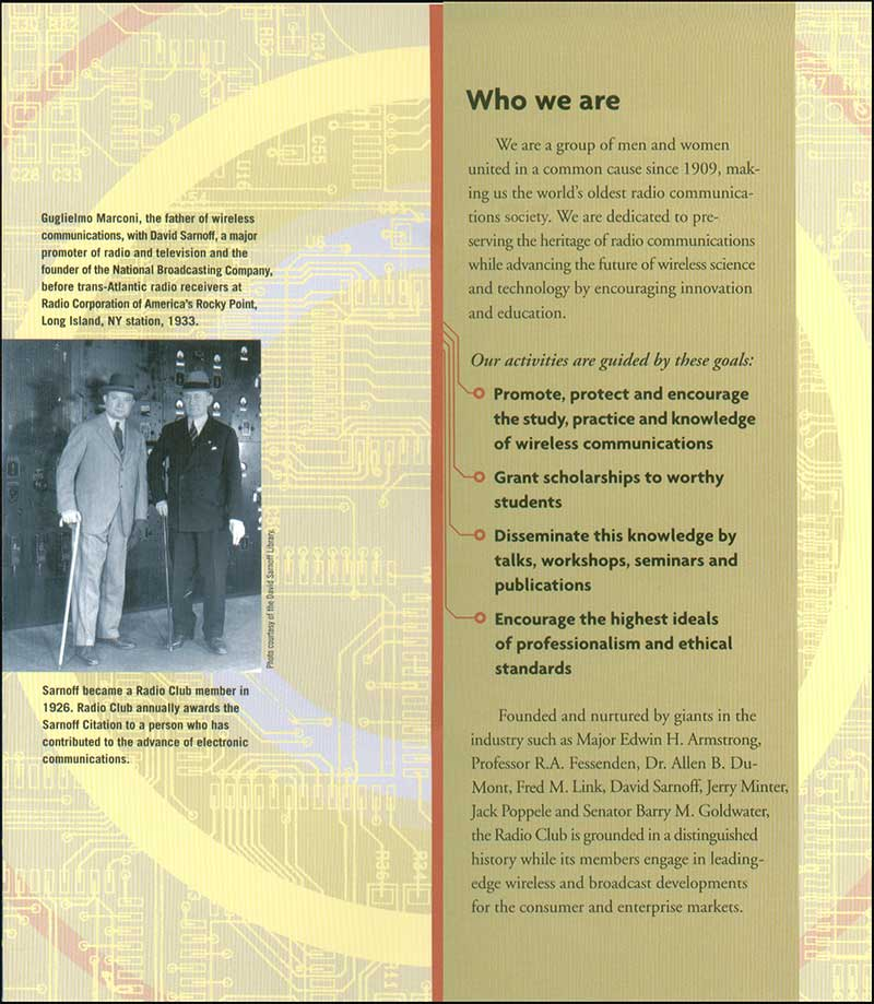 RCA membership leaflet inside one