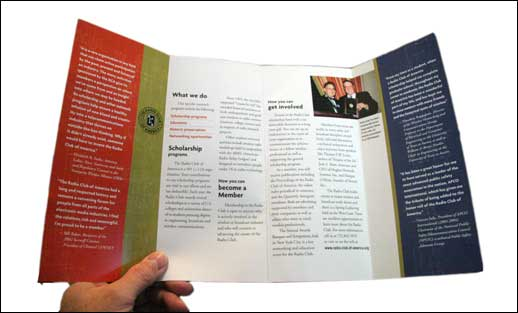 In May 2006, RCA released a leaflet suitable to use for recruiting new members.