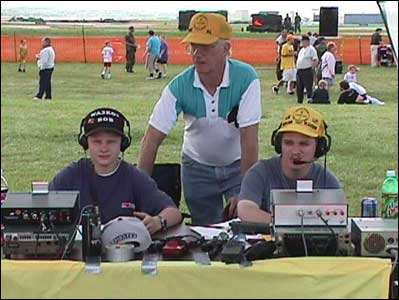 Robert J Rodgers WA3KOA at an ARRL Field Day radio operation.