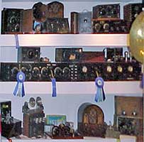 Another view of radios on display in Ron Frisbie's Marconi Museum.