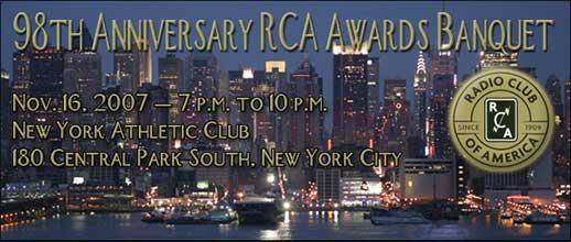 RCA 2007 banquet
