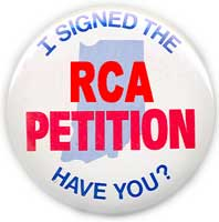 RCA petition button