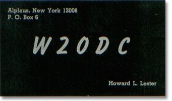 W2ODC QSL card