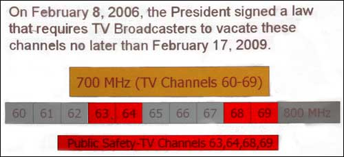 President Bush signs law requiring TV stations to vacate analog channels.