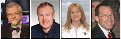 Bill Baker, W1BKR; Fred Baumgartner; KG0KI; Sandra Black; and Russell Fox, esq.
