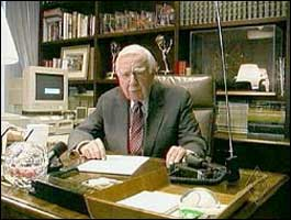 Walter Cronkite, KB2GSD, in a 2003 ARRL video,