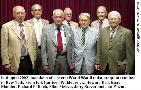 Harrison W. Moore Jr., W2JQS, at radar officer reunion in 2002.