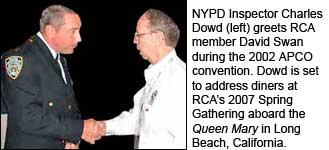 NYPD Inspector Charles Dowd and RCA Fellow David Swan, P.E.