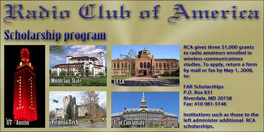 Institutions that receive RCA scholarship money.